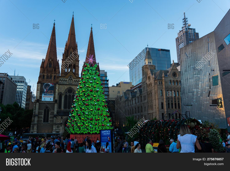 Christmas In Australia Background.Melbourne Australia Image Photo Free Trial Bigstock
