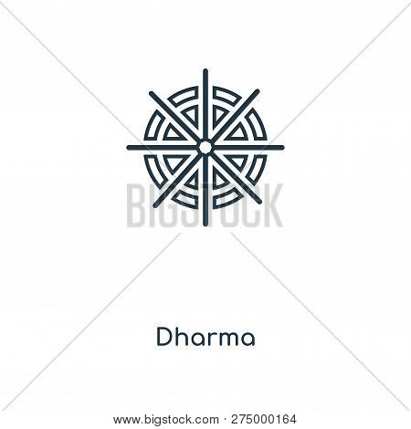 Dharma Icon In Trendy Design Style. Dharma Icon Isolated On White Background. Dharma Vector Icon Sim