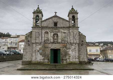 Baiona - December 28, 2015: Church Of The Santa Liberata, A Chapel In Italian Plateresque Style, Sta