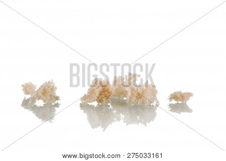 Crumbles To The Smell Of Fresh Bread Isolated On White Background