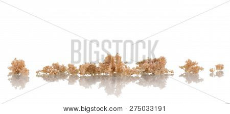 Crumbs To The Smell Of Fresh Rye Bread Isolated On White Background