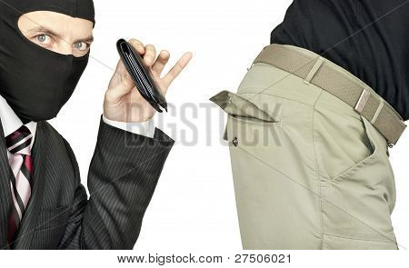 Businessman Picks Pocket