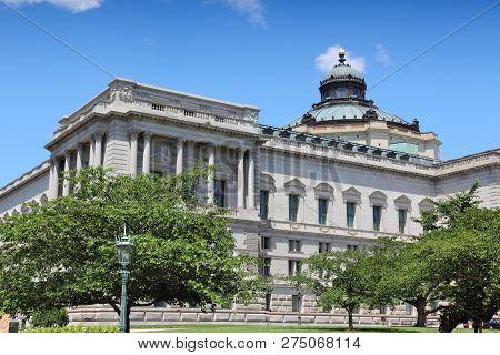 Library Of Congress In Washington D.c. - United States Landmark.