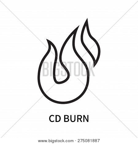 Cd Burn Icon Isolated On White Background. Cd Burn Icon Simple Sign. Cd Burn Icon Trendy And Modern