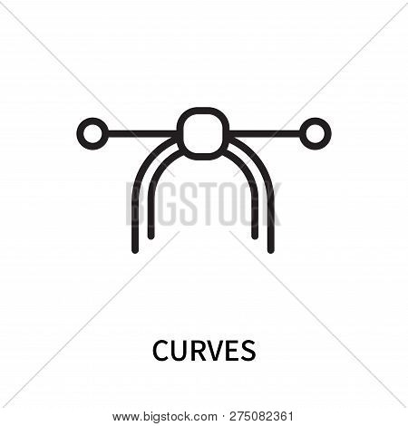 Curves Icon Isolated On White Background. Curves Icon Simple Sign. Curves Icon Trendy And Modern Sym
