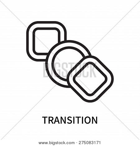 Transition Icon Isolated On White Background. Transition Icon Simple Sign. Transition Icon Trendy An