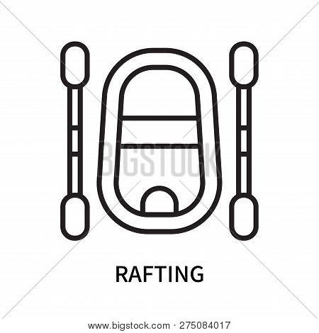 Rafting Icon Isolated On White Background. Rafting Icon Simple Sign. Rafting Icon Trendy And Modern