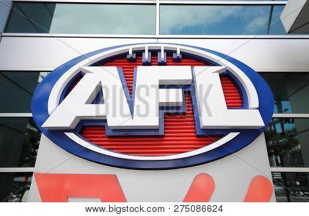Melbourne Australia - November 30, 2018: Afl Australian Football League Australia