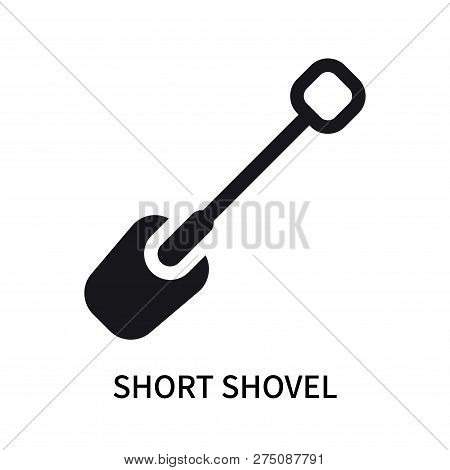 Short Shovel Icon Isolated On White Background. Short Shovel Icon Simple Sign. Short Shovel Icon Tre