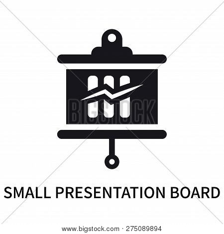 Small Presentation Board Icon Isolated On White Background. Small Presentation Board Icon Simple Sig