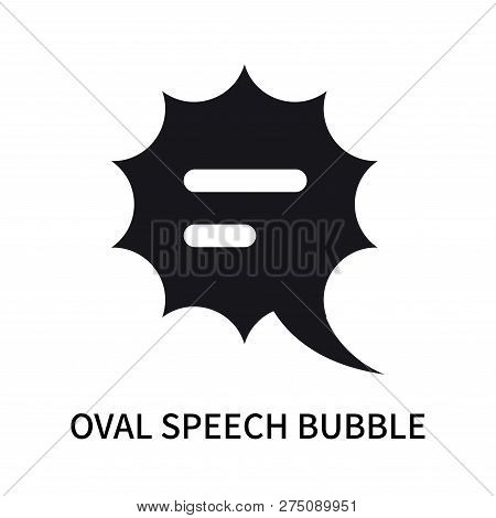 Oval Speech Bubble Icon Isolated On White Background. Oval Speech Bubble Icon Simple Sign. Oval Spee