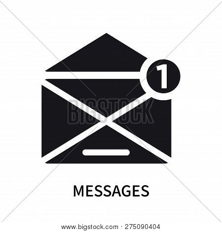 Messages Icon Isolated On White Background. Messages Icon Simple Sign. Messages Icon Trendy And Mode