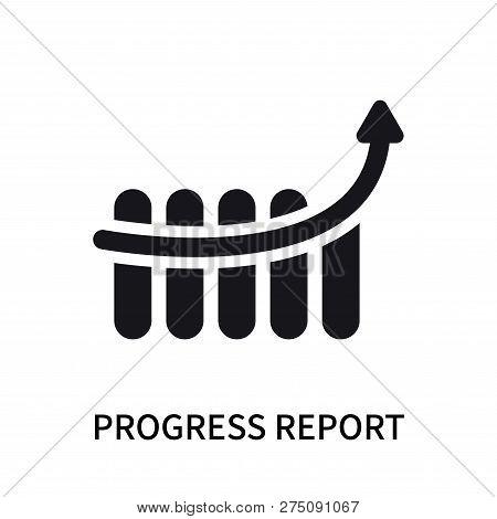 Progress Report Icon Isolated On White Background. Progress Report Icon Simple Sign. Progress Report