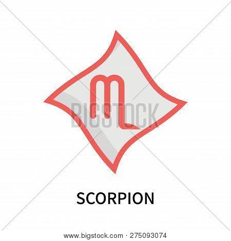 Scorpion Icon Isolated On White Background. Scorpion Icon Simple Sign. Scorpion Icon Trendy And Mode