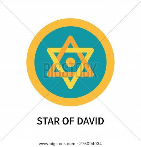 Star Of David Icon Isolated On White Background. Star Of David Icon Simple Sign. Star Of David Icon