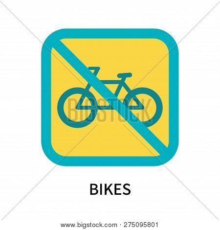 Bikes Icon Isolated On White Background. Bikes Icon Simple Sign. Bikes Icon Trendy And Modern Symbol