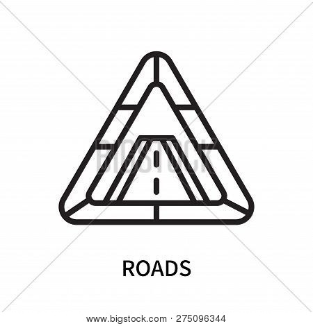 Roads Icon Isolated On White Background. Roads Icon Simple Sign. Roads Icon Trendy And Modern Symbol