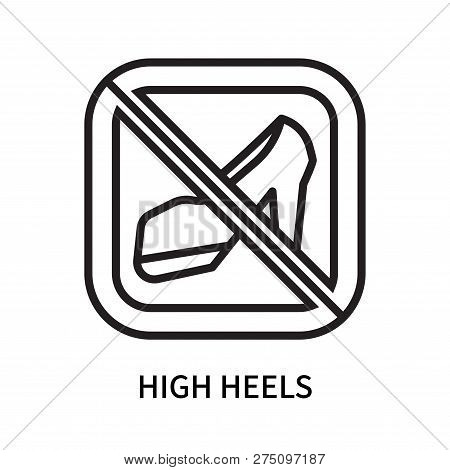 High Heels Icon Isolated On White Background. High Heels Icon Simple Sign. High Heels Icon Trendy An