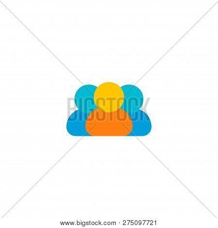 Members Icon Flat Element.  Illustration Of Members Icon Flat Isolated On Clean Background For Your