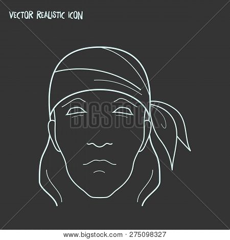 Bandanna Icon Line Element. Vector Illustration Of Bandanna Icon Line Isolated On Clean Background F