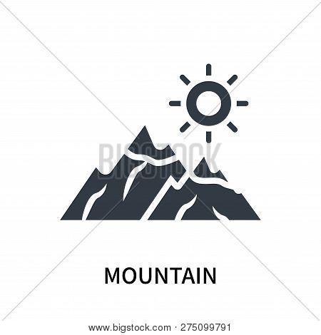 Mountain Icon Isolated On White Background. Mountain Icon Simple Sign. Mountain Icon Trendy And Mode
