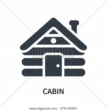 Cabin Icon Isolated On White Background. Cabin Icon Simple Sign. Cabin Icon Trendy And Modern Symbol