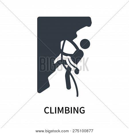 Climbing Icon Isolated On White Background. Climbing Icon Simple Sign. Climbing Icon Trendy And Mode