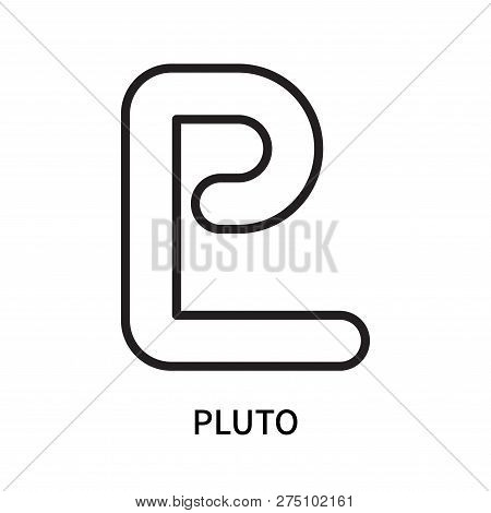 Pluto Icon Isolated On White Background. Pluto Icon Simple Sign. Pluto Icon Trendy And Modern Symbol