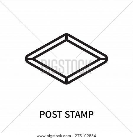 Post Stamp Icon Isolated On White Background. Post Stamp Icon Simple Sign. Post Stamp Icon Trendy An