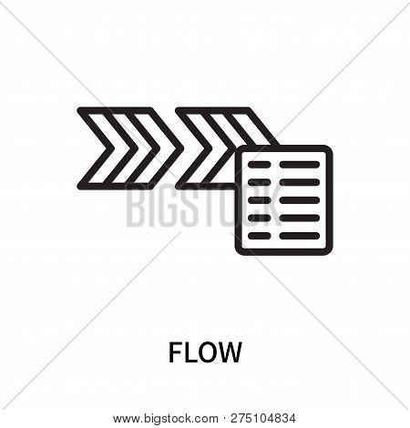 Flow Icon Isolated On White Background. Flow Icon Simple Sign. Flow Icon Trendy And Modern Symbol Fo
