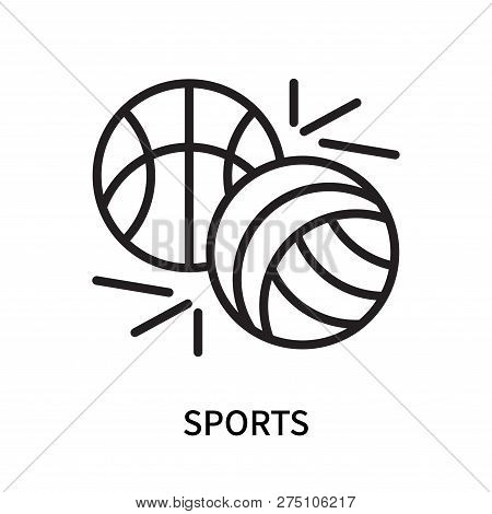 Sports Icon Isolated On White Background. Sports Icon Simple Sign. Sports Icon Trendy And Modern Sym