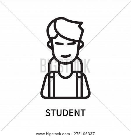 Student Icon Isolated On White Background. Student Icon Simple Sign. Student Icon Trendy And Modern