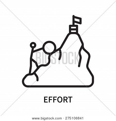 Effort Icon Isolated On White Background. Effort Icon Simple Sign. Effort Icon Trendy And Modern Sym