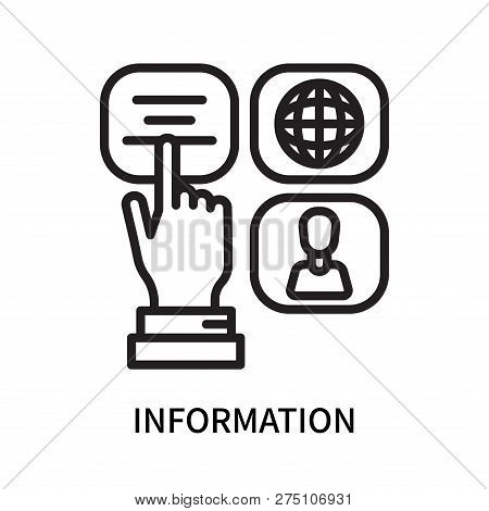 Information Icon Isolated On White Background. Information Icon Simple Sign. Information Icon Trendy
