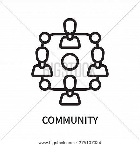 Community Icon Isolated On White Background. Community Icon Simple Sign. Community Icon Trendy And M