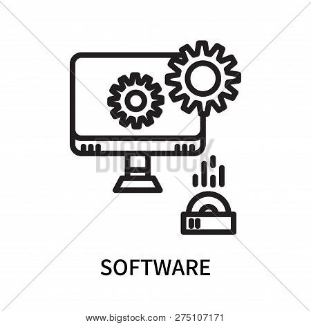 Software Icon Isolated On White Background. Software Icon Simple Sign. Software Icon Trendy And Mode