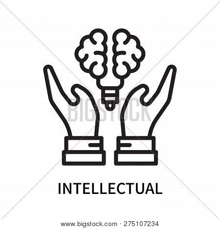 Intellectual Icon Isolated On White Background. Intellectual Icon Simple Sign. Intellectual Icon Tre
