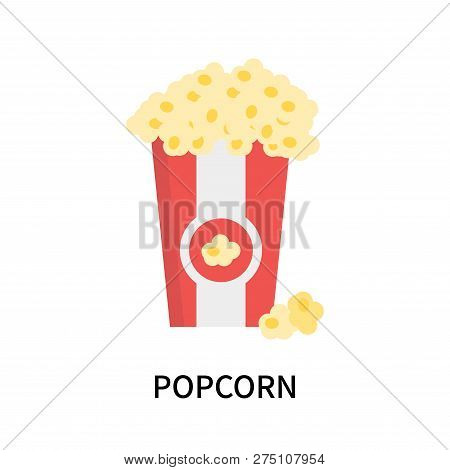 Popcorn Icon Isolated On White Background. Popcorn Icon Simple Sign. Popcorn Icon Trendy And Modern
