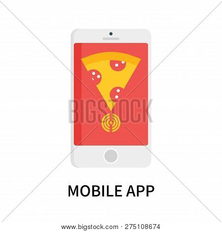 Mobile App Icon Isolated On White Background. Mobile App Icon Simple Sign. Mobile App Icon Trendy An
