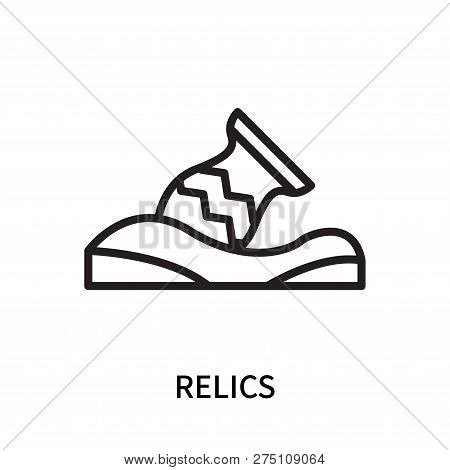 Relics Icon Isolated On White Background. Relics Icon Simple Sign. Relics Icon Trendy And Modern Sym