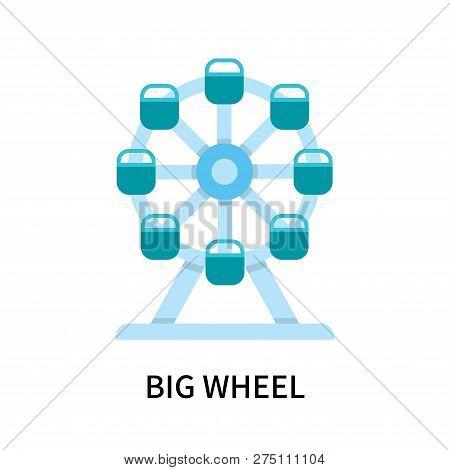 Big Wheel Icon Isolated On White Background. Big Wheel Icon Simple Sign. Big Wheel Icon Trendy And M
