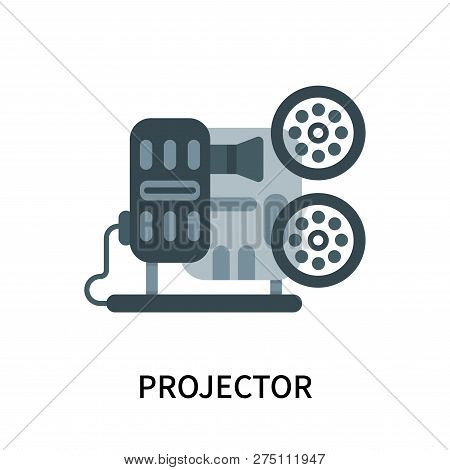 Projector Icon Isolated On White Background. Projector Icon Simple Sign. Projector Icon Trendy And M