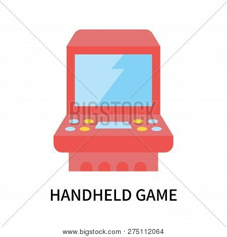 Handheld Game Icon Isolated On White Background. Handheld Game Icon Simple Sign. Handheld Game Icon