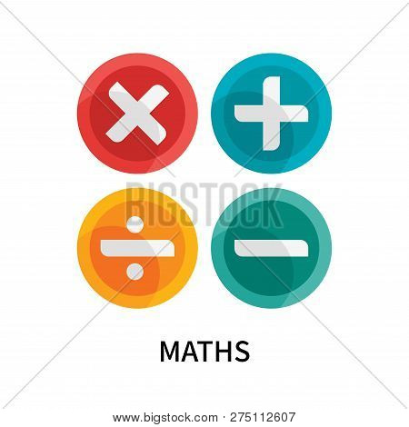 Maths Icon Isolated On White Background. Maths Icon Simple Sign. Maths Icon Trendy And Modern Symbol