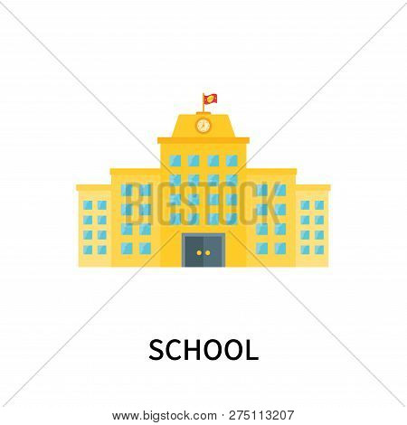 School Icon Isolated On White Background. School Icon Simple Sign. School Icon Trendy And Modern Sym