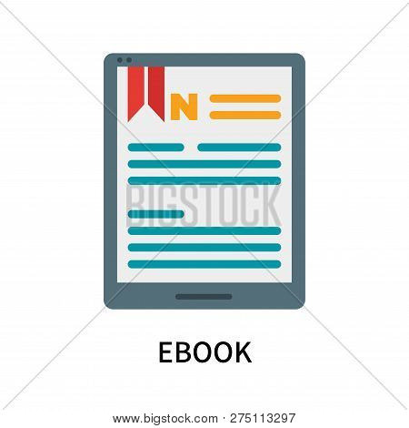 Ebook Icon Isolated On White Background. Ebook Icon Simple Sign. Ebook Icon Trendy And Modern Symbol