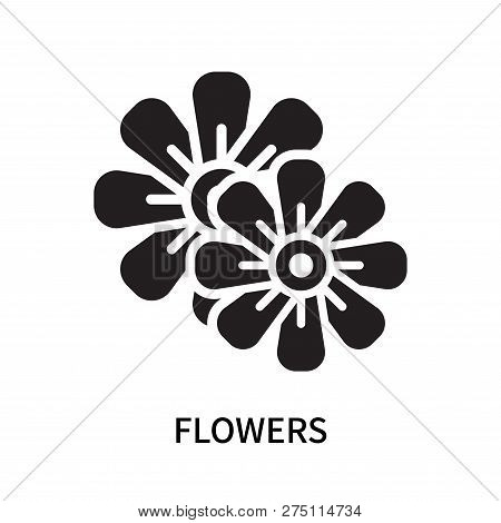Flowers Icon Isolated On White Background. Flowers Icon Simple Sign. Flowers Icon Trendy And Modern