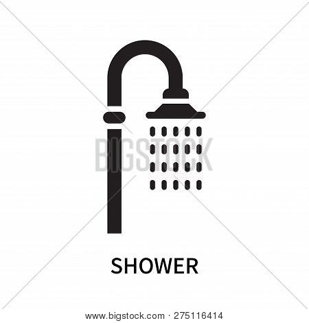 Shower Icon Isolated On White Background. Shower Icon Simple Sign. Shower Icon Trendy And Modern Sym