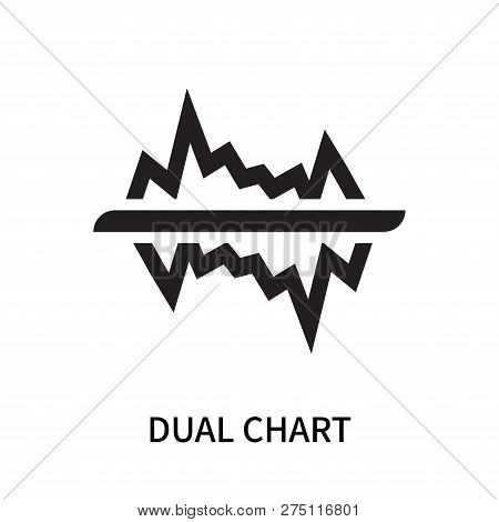 Dual Chart Icon Isolated On White Background. Dual Chart Icon Simple Sign. Dual Chart Icon Trendy An