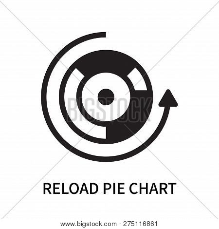 Reload Pie Chart Icon Isolated On White Background. Reload Pie Chart Icon Simple Sign. Reload Pie Ch